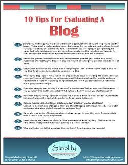 Evaluating Blogs For Business: 10 Tips