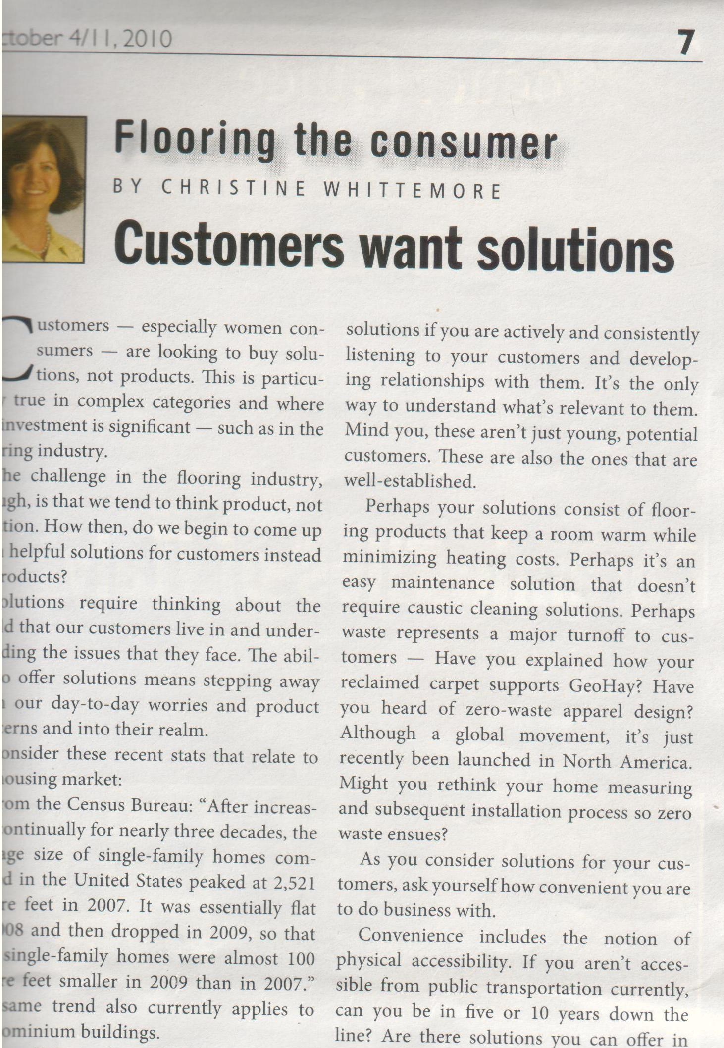 Customers Want Solutions by C.B. Whittemore