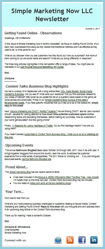 Simple Marketing Now News - Oct 2011