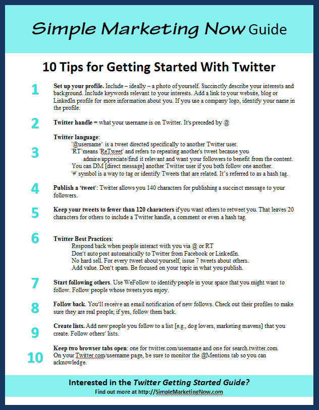 Getting Started With Twitter for Business: 10 Tips & a Guide