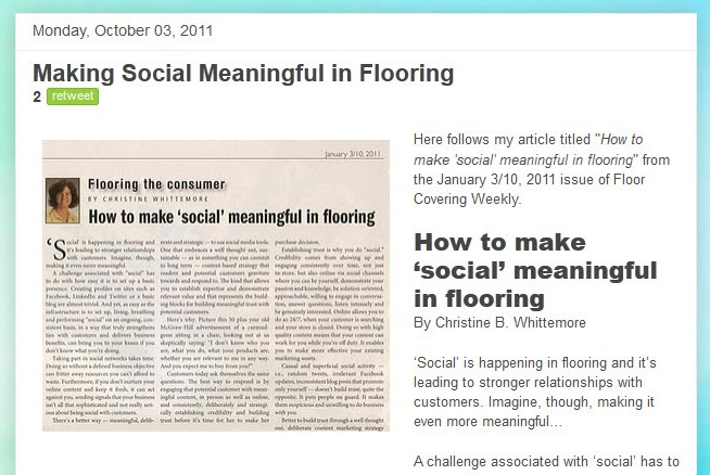 Making Social Meaningful