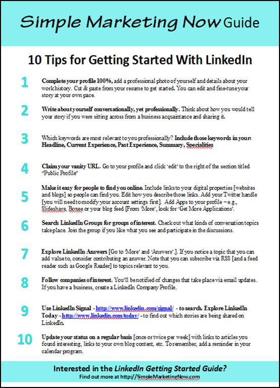 getting started with linkedin for business 10 tips a guide