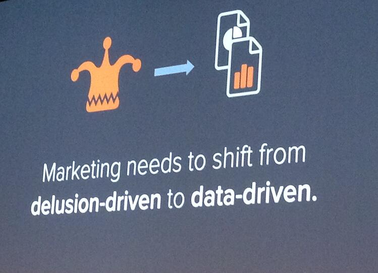 Marketing needs to shift from delusion- to data-driven.