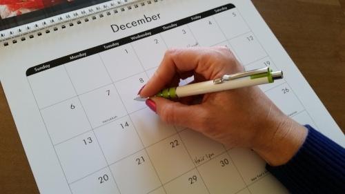 A calendar makes social listening more efficient