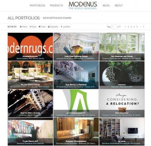 Browse Portfolios on Modenus.com 3.0