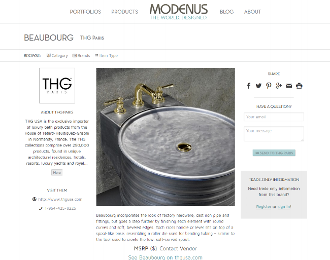 Within Product Categories, Explore Specific Products on Modenus.com 3.0
