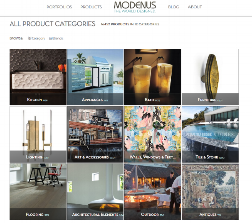 Browse Products on Modenus.com 3.0