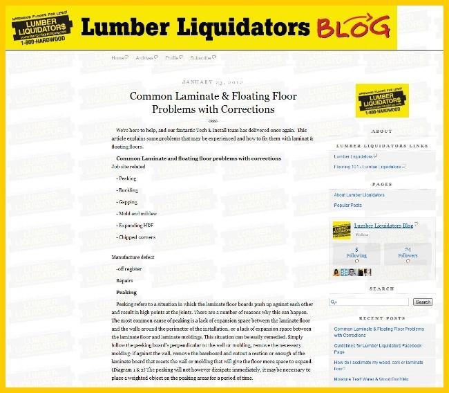 Lumber Liquidators Blog: Social Flooring Index Review