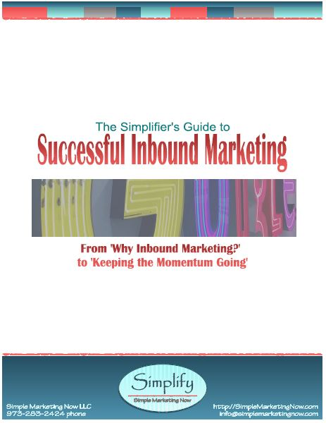 Download the Simplifier's Guide to Successful Inbound Marketing