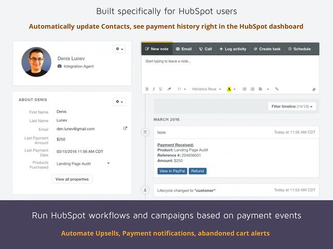 DepositFix: built specifically for HubSpot users to run workflows and campaigns based on payment events