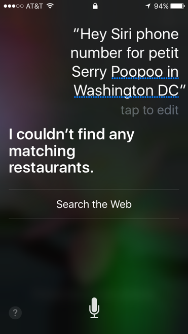 Hey Siri, Patisserie Poupon in Washington DC. Top Social Media Trend #2: Voice Search