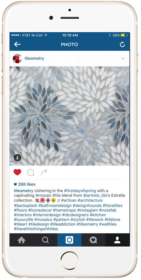 Tile Industry's Tileometry on Instagram