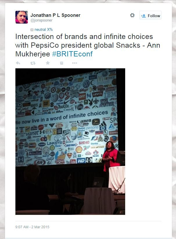 Connecting With Customers In A World of infinite choices: Doritos At #BRITEconf 2015